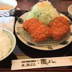 とんかつ藤よし - プレーンミルフィーユとミルフィーユ(チーズ)膳1,499円(白米・豚汁)