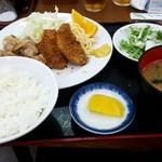 藤ノ木 - アジフライと生姜焼き