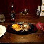 110689835 - ハンバーグ バター醤油 750円+税、ライス 200円+税