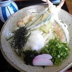 白滝 - 天おろし 熱(850円) 麺はコシが良い感じ♪ ただ、ちょっと少なくない。?