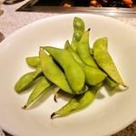 味仙荘 - 枝豆 ちょっと乾いていました。