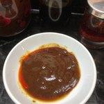ひょうたん - 味噌ダレ、ニンニク醤油、ラー油、お酢を混ぜました