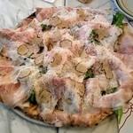 ペルテ - 本日のピッツァ:チーズ、ミニトマト、ルッコラ、パンチェッタコッタ、サマートリュフ等