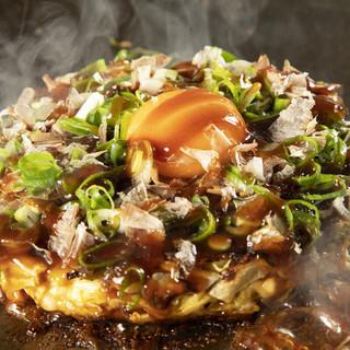 千葉県産大和芋をたっぷりと使用したこだわりの大阪お好み焼