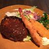 タツミ亭 - 料理写真:ハンバーグステーキ ミックス海鮮フライ ランチ定食¥1000