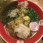 麺堂 香 - 生姜たっぷり醤油ラーメン780円