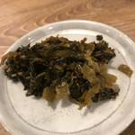 麺堂 香 - サービスの辛子高菜
