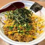 麺小屋 てち - 料理写真:みそまぜそば 大(腹ぱんぱん) + ジャンク大好き
