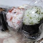 おにぎり 川井亭 - 料理写真:おにぎり3種