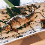 祇をん 豆寅 - 焼物:活鮎の塩焼き様