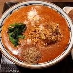 丸亀製麺 - うま辛MAX坦々うどん(冷)(並) ¥650+50辛 ¥500