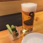 和酒 吟蔵 - お通しとビール
