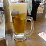 立ち呑み串カツ田中 - 生ビール(450円)