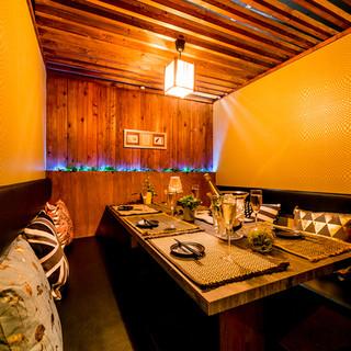 完全個室のプライベート空間。大人数の貸切にも対応します◎