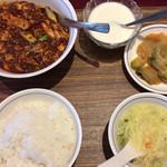 110736790 - 「陳麻婆豆腐ランチ」@1100(税込)  ご飯お代わり無料