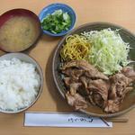 食庵とんとん - 「生姜焼き定食」600円→サービスランチとして550円