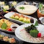 がばい寅次郎 - 大人な和食コース4,500円(料理8品)3時間飲み放題