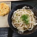 はなまるうどん - 料理写真:かけ(中)+かき揚げ
