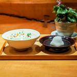 茶香房 長竹 - お菓子とお薄茶のセット