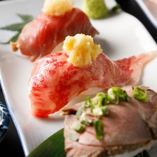 肉寿司や馬刺しを始め多彩な肉料理