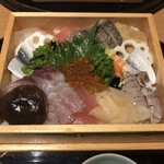 日本料理 吉備膳 - 箱をひっくり返しフタをパカッ