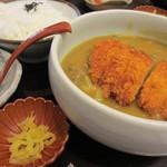 ダイキチ - カツカレーうどん+ご飯
