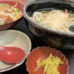 ダイキチ - 海老天うどん+カツ丼