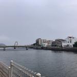 ディエゴ・バイ・ザ・リバー - 店内からも見える弁天橋