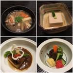 普茶料理 梵 - 吉野煮・胡麻豆腐・那須の煮物・香の物