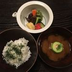 普茶料理 梵 - ご飯と吸い物 香の物