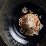 ピーチ 毛蟹のサマートリュフ
