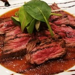 ジッチャン - ハラミのレアステーキ