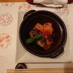 110767699 - 茄子と揚げ出し豆腐に甘味噌かけ
