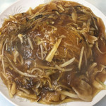 龍鳳 - 料理写真:小樽 あんかけ焼きそば ( ´θ`) 豚肉 醬油味 2玉 並