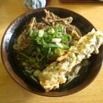 斎賀製麺所 - かけうどん(小)・いりこの天ぷら・昆布の天ぷら