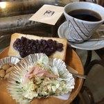 けやき - 料理写真:ブレンドコーヒー420円と小倉トーストのモーニング