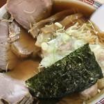 110773923 - チャーシューワンタン麺  美味いんだけど                         この盛り方はねーんじゃね? 愛が足りません!