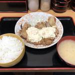 マルキ食堂 - 大判チキン南蛮 ご飯M