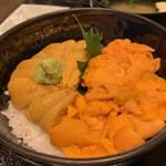 110778329 - 【塩水バフンうにとムラサキうにの食べ比べ丼…6,048円】♫2019/6