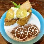 チーズムースと、さわやかレモンソースの フレンチトースト!