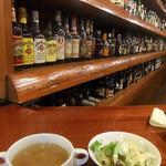 11079742 - ランチのスープ、サラダ~バックバーを眺めながら