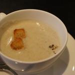 茶寮 六三郎 - 料理写真:ランチセットの「ごぼうのポタージュ」
