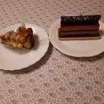パーラー ローレル - ショコラフランボワーズ、ゴルゴンゾーラチーズケーキ