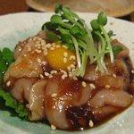 翔太朗 - 大和肉鶏のユッケ/850円