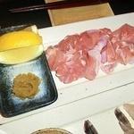 勘九朗 - 大山鶏もも肉塩焼き柚子胡椒