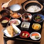 創作天ぷらと炭焼きワイン はかたあゆむ - ランチ御膳