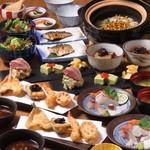 創作天ぷらと炭焼きワイン はかたあゆむ - ランチコース