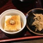 そば丸 - そば豆腐と小鉢