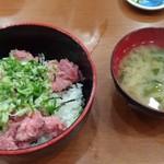 食堂 旭屋 - ネギトロ丼 600円(味噌汁付)