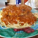 デルムンド - 病み付きになりますね、ハンブルジョアスパゲッティ。